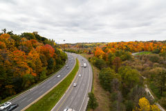 Cars On The Don Valley Highway Stock Photo