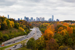 Cars On The Don Valley Highway Stock Photography