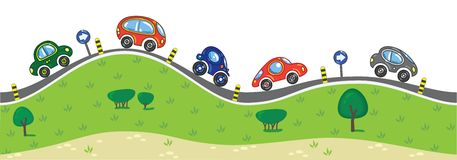 Cars On The Road. Stock Photo