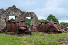 Cars Oradour sur Glane Stock Images