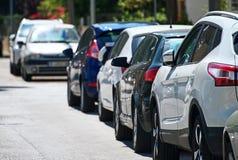 Cars parked. Stock Photos