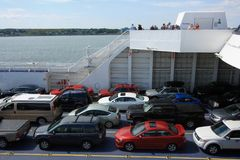 Cars Parked on a Ferry Stock Photography