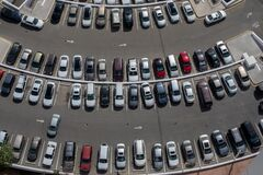 Free Cars Parked In A Service Parking Stock Photography - 188144582