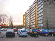 Cars parked in the morning city Royalty Free Stock Image