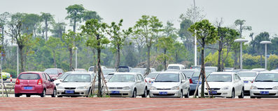 Cars parking stock photos