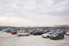 Cars on parking Stock Photo
