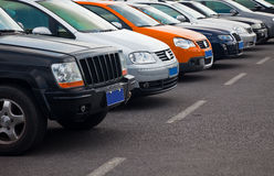 Cars parking Stock Image
