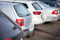 Cars on a parking area Royalty Free Stock Images