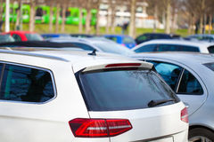 Cars on a parking area Stock Photography
