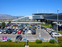 Cars parking, Athens airport. Greece, Athens International Airport `Eleftherios Venizelos`. Cars parking at airport stock photography