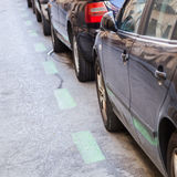Cars parking in the city Stock Photography