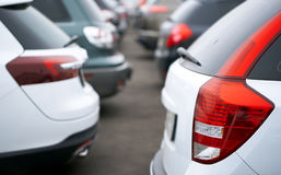 Cars in the parking Royalty Free Stock Images