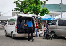 Cars at the parking lot in Boracay, Philippines Stock Photography