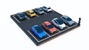 Cars in parking lot. Royalty Free Stock Photography