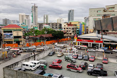 Cars at the parking lot in Manila, Philippines Royalty Free Stock Photo