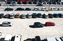 Cars on a parking lot Stock Images