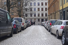 Cars on a parking Stock Images