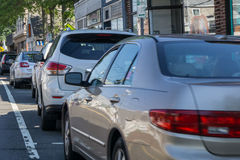 Cars parking Stock Images