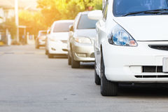 Cars on parking Stock Image
