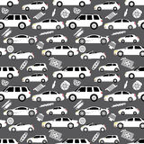Cars and Parts in wallpaper Royalty Free Stock Photo