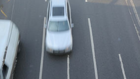 Cars passing 1 stock footage