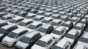 Cars pattern Royalty Free Stock Image