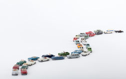 Cars pile up on the road Stock Photography