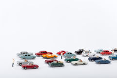 Cars pile up on the road Stock Photos