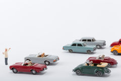 Cars pile up on the road Royalty Free Stock Photography