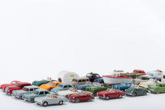 Cars pile up on the road Royalty Free Stock Photo