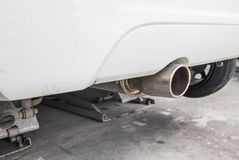 Cars pipe installation Stock Photography