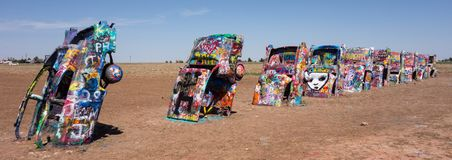 The famous cadillac ranch of texas Royalty Free Stock Images