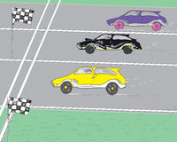 Cars race Royalty Free Stock Image