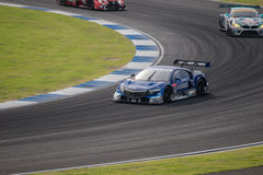 Cars On Races Day SuperGT Round 7 2014 in Burirum, Thailand. Royalty Free Stock Photos