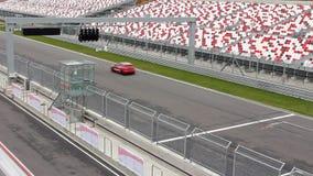 Cars on raceway stock video footage