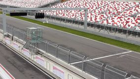 Cars on raceway stock footage