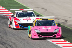 Cars racing stock images