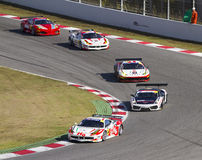 Cars racing Royalty Free Stock Photography