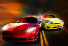 Cars racing Royalty Free Stock Images