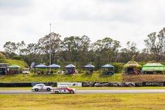 Cars racing on zwartkops stock photos