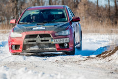 Cars rally january dnipro city ukraine car during winter competition Stock Images