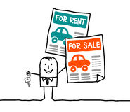 Cars for rent or sale Royalty Free Stock Photos