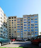 Cars and residential houses in Zverynas district Stock Photography