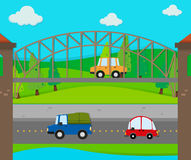 Cars riding on the road Royalty Free Stock Image
