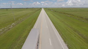 Cars on the road aerial video Royalty Free Stock Image