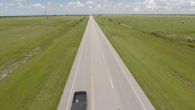 Cars on the road aerial video Royalty Free Stock Photos