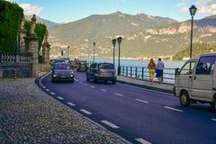 Road along Garda lake , Italy Royalty Free Stock Images