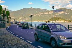Road along Garda lake , Italy Stock Photo