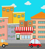 Cars on road in the city Royalty Free Stock Images