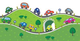 Cars on the road. Royalty Free Stock Photo